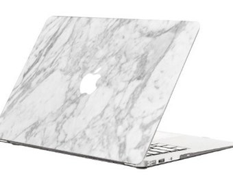 "Marble MacBook Air 13""  Skin White Marble- MacBook  Apple Mac Book cover skin MATTE GLOSS"