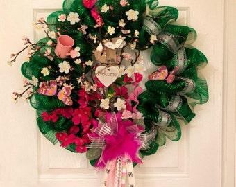 Spring cherry blossom wreath