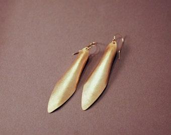 Nuegold Brass Shield Earrings