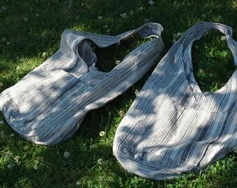 Off the shoulder striped tote bag