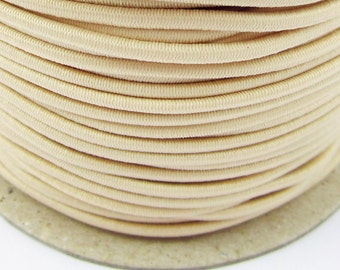 5, 10, 50 m rubber cord cream 3 mm