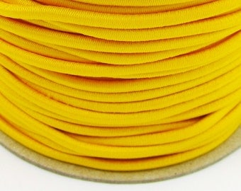 5, 10, 50 m rubber cord 2 mm yellow