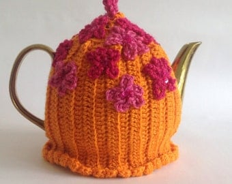 Springtime Tea Cosy - Orange