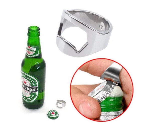 beer bottle opener ring best man gift. Black Bedroom Furniture Sets. Home Design Ideas