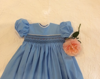 Girl's Smocked Party Dress