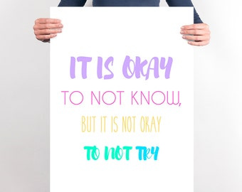 Printable Teacher Art Print Poster Classroom Rules Classroom It Is okay Decoration Sign Teacher Poster Rules Classroom Art New Teacher Gift