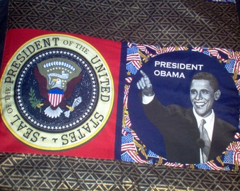 Handmade Throw Using President Obama/African Print