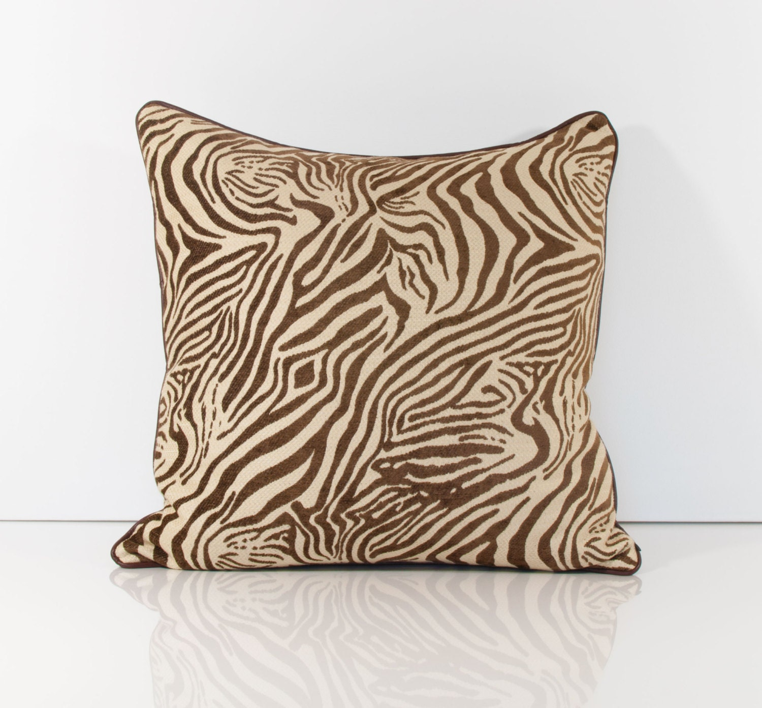 Animal Pillows : Animal Print Pillow Cover Brown Pillow Cover Zebra Pillows