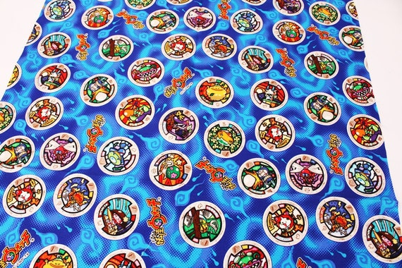 Yokai watch medal character fabric made in japan fq 45cm for Porte medaillon yokai watch
