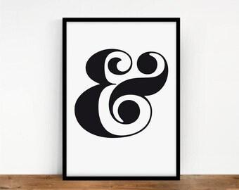 Ampersand Wall Art ampersand art | etsy
