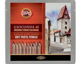 Gioconda dry soft pastel pencil set 8829 dusty crayons for artists drawing KOH I NOOR Hardtmuth colouring toning art 8828 8827 new