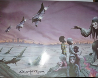 The Eleventh Hour, Signed Vintage Poster by Rodney Matthews