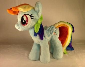 Handmade MLP Plushie - Rainbow Dash - 20cm / 7.5''