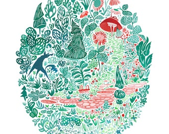 The Woods Print -
