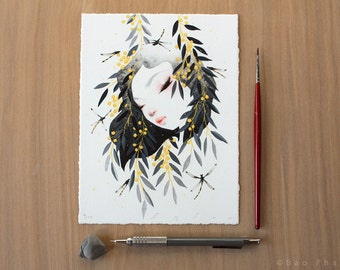 Thoughts of Spring in Black and Gold - Limited Edition Print