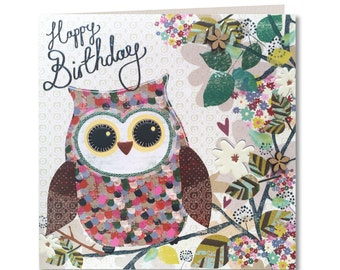 owl birthday card  etsy, Birthday card