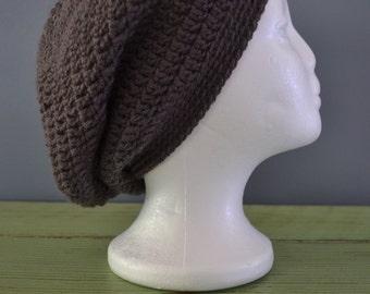 Crochet Slouchy Beanie Graphite