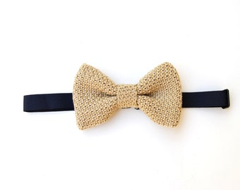 CLASSIC BOW TIE, bow tie man in 100% Egyptian cotton, handmade, wedding, summer wedding color rope bow ties,