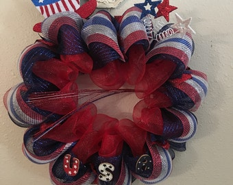 FREE SHIPPING on this USA Uncle same hat  #1 4 in 1 wreath