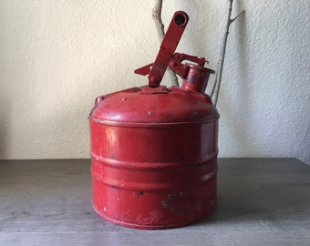 Vintage/Antique Gas Can, Vintage Red Fuel Can