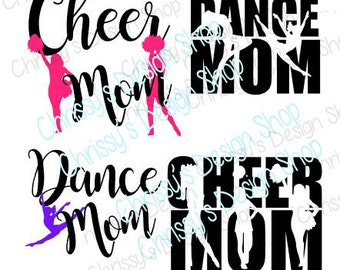Dance mom cheer mom bundle svg / cheer svg / dancer svg / cheerleader svg / dance cut file / vinyl crafts / cheer clip art / dance clip art