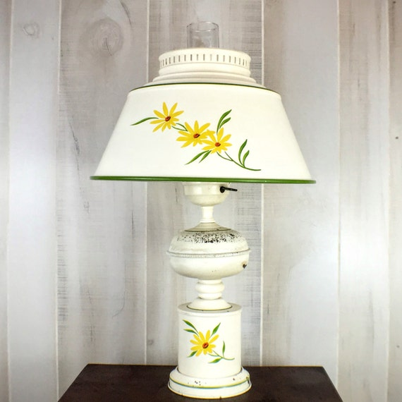 Rustic Farmhouse Decor Table Lamp by NostalgiaDenAntiques on Etsy