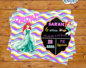 The Little Mermaid party invitations meets birthday. Little Mermaid invitations for birthday party birthday