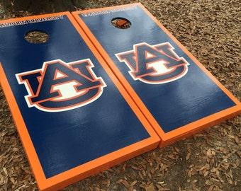 Auburn Tigers Cornhole set with bean bags