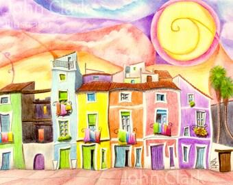 Spanish Village Sunset 2