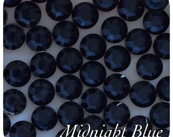 4000 Midnight Blue Resin Rhinestone Crystals 2,3,4 & 5mm