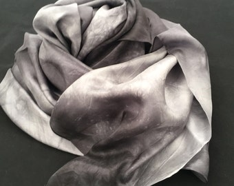 Clouds Hand Dyed Silk Scarf