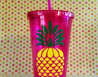 Pineapple tumbler, Be sweet, stand tall, wear your crown, tumbler, pineapple