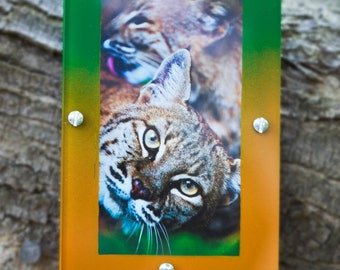 Hand Painted Bobcat Photo Magnet