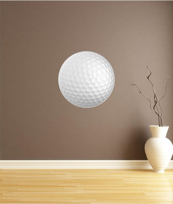 Office Pictures For Walls Golf: Golf Ball Dot Wall Decal Vinyl Sticker By OOKimsKreationsOo