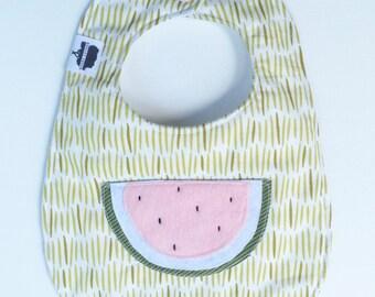 Sale! Watermelon Appliqué Bib