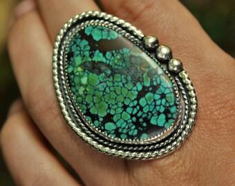 Large Nevada Turquoise Ring