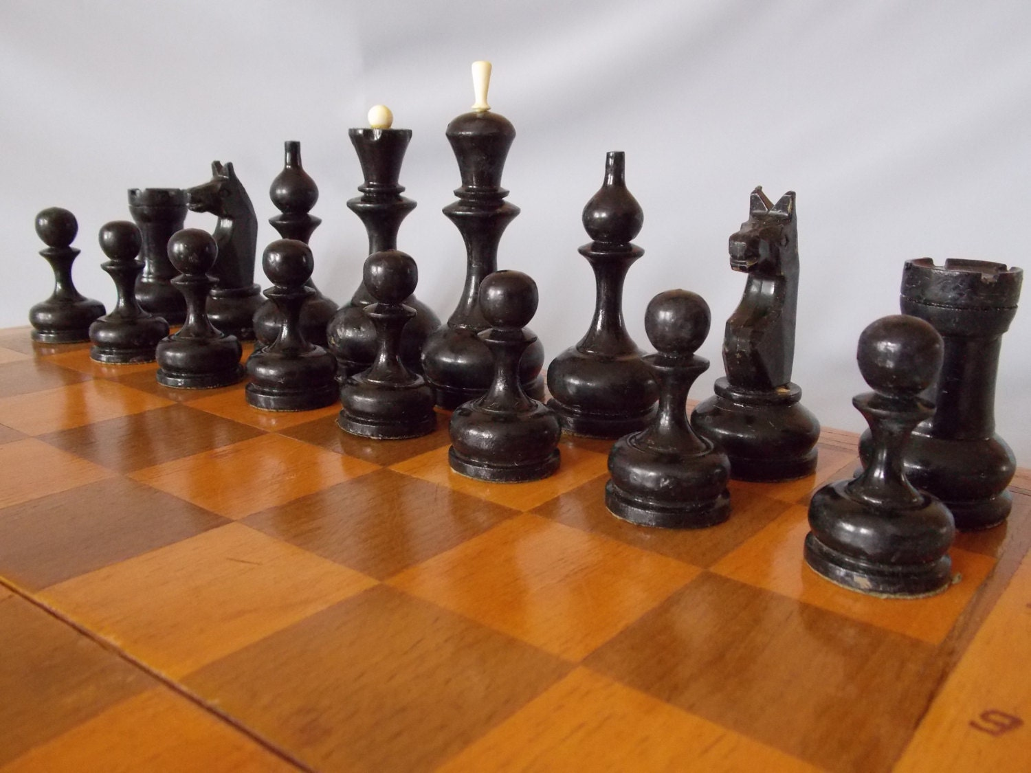 Big Wooden Soviet Chess Vintage Chess Set Ussr