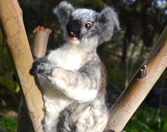 100% felt Koala needle felted Koala felted animal Australian Koala Australian felted Koala felted koala