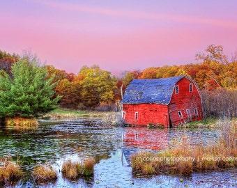 Rural Barn, Water, Farm, Rustic Minnesota