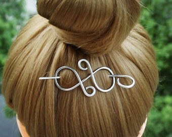 Silver Hair Clip Small Hair Pin Hair Slide, Silver Shawl Pin Scarf Pin, Hair Stick Barrette Hair Jewelry Hair Accessories Women Gift for Her