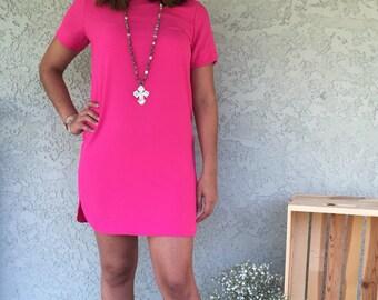 Bright pink tunic
