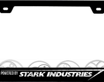 Powered by Stark Industries -- License Plate Frame
