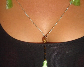 Green Pastel/Buddha Necklace Green Buddha necklace