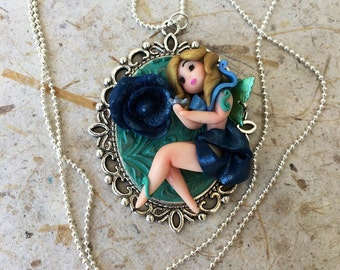 Cameo necklace little fairy