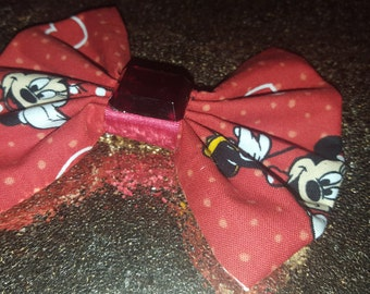 Red Minnie Mouse Gem Hairbow