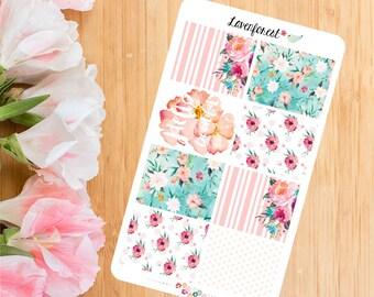 watercolor full box planner sticker|  | watercolor planner stickers | FB013