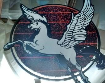 1980s carnival prize mirror: Pegasus