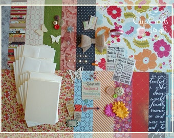 Card Making Kit, Thank You Cards, Thank You, Card Making, DIY Greeting Cards, Card Kit, Kits, Crafts, Cards, Handmade Cards