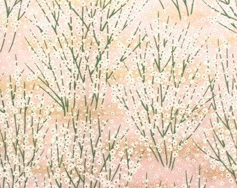 "Pink Blossoms. Chiyogami Yuzen Paper Sheet 8.5 x 11"""