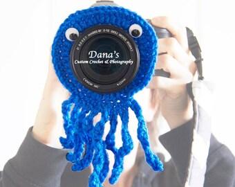 Octopus Camera Lens Buddy - Crochet - Handmade - Photography Prop - Kids - Children - Gift